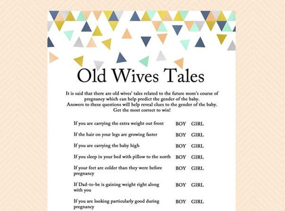 Sex of the baby old wives tales