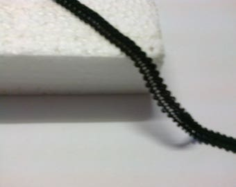 Black trim for upholstery or garment 0.7 cm wide