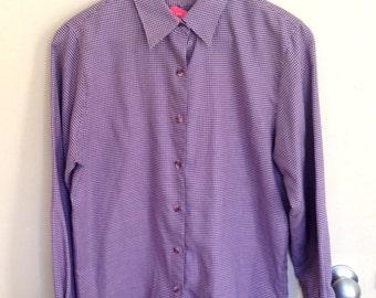Jagger Purple Houndstooth Shirt
