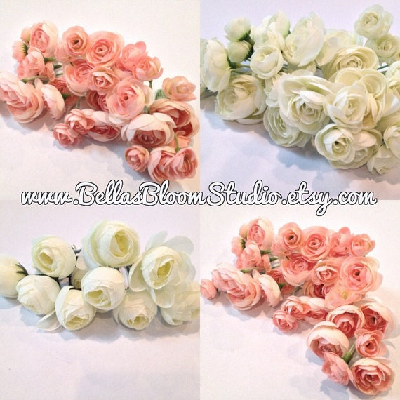 Ranunculus flowers blush pink artificial flowers silk mightylinksfo
