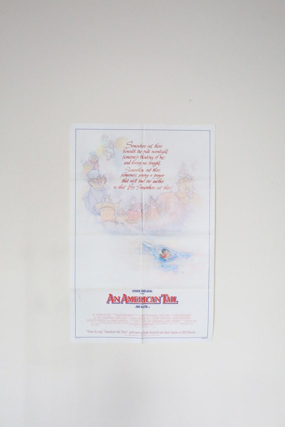 Original Theatrical One Sheet Film Poster - American Tail