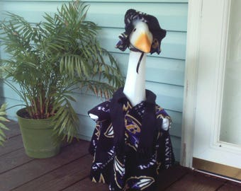 Goose Clothing  -  NFL Baltimore Ravens Goose Sport 3 Piece Outfit for Plastic and Concrete Lawn Goose