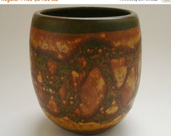 ON SALE NOW Vintage Designs West Pottery Vase-Mic Century Modern California Studio Pottery