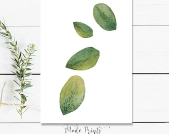 Botanical Print - Botanical Art Leaf Print Botanical Illustration - Botanical Print Set Botanical Poster - Botanical Art Print Leaves Art
