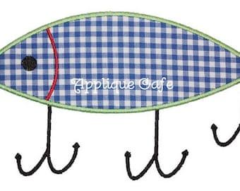 065 Fishing Lure Machine Embroidery Design