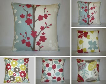 """ALL 5 Pillow Covers Set Blue Red Green Scandinavian Cushion Covers Throw Accent Scatter Pillows 16"""" (40cm)"""