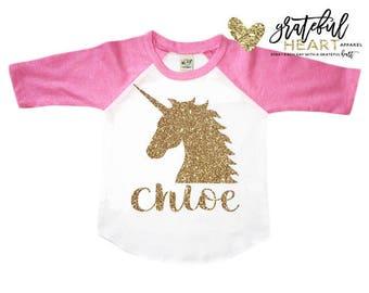 Unicorn shirt, Kids unicorn shirt, Girls unicorn shirt,girls unicorn outfit,Personalized kids shirts,Glitter unicorn shirt,Unicorn birthday