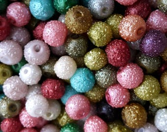 Textured Pearl Beads - 4mm, 6mm, 8mm