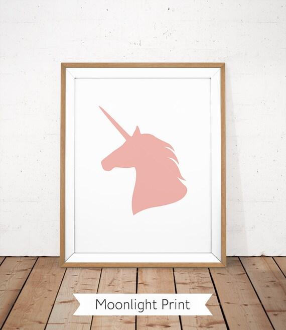 Imprimibles del Unicornio unicornio cabeza impresión color