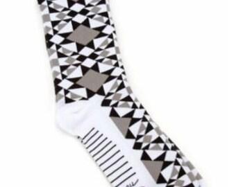 Modern Building Blocks Socks - Sewing themed socks - Sock Thoughts by Moda