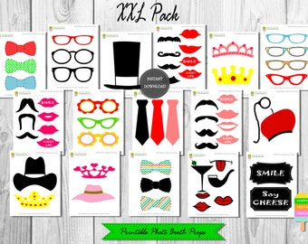 PRINTABLE Photo Booth Props–Generic Props-Printable Props–Photo Booth Props-Digital Props-Printable Photo Props–Mustaches-Instant Download