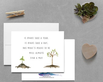 It will Happen Instant Card, IVF Card, IVF, TTC card, Encouragement Card, Download Card, Infertility Card
