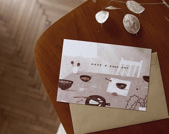 have a good day. postcard // cozy postcard, for your lovely people and friends