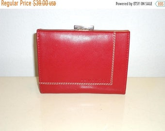 50% OFF Must See Lamarthe Oxblood Red Leather Sectional Coin Purse