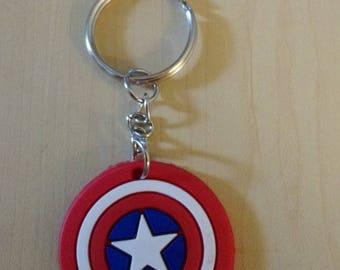 PVC Keychain - Captain America Shield