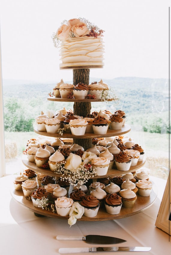 rustic cupcake stand 5 tier tower holder 75 cupcakes 150
