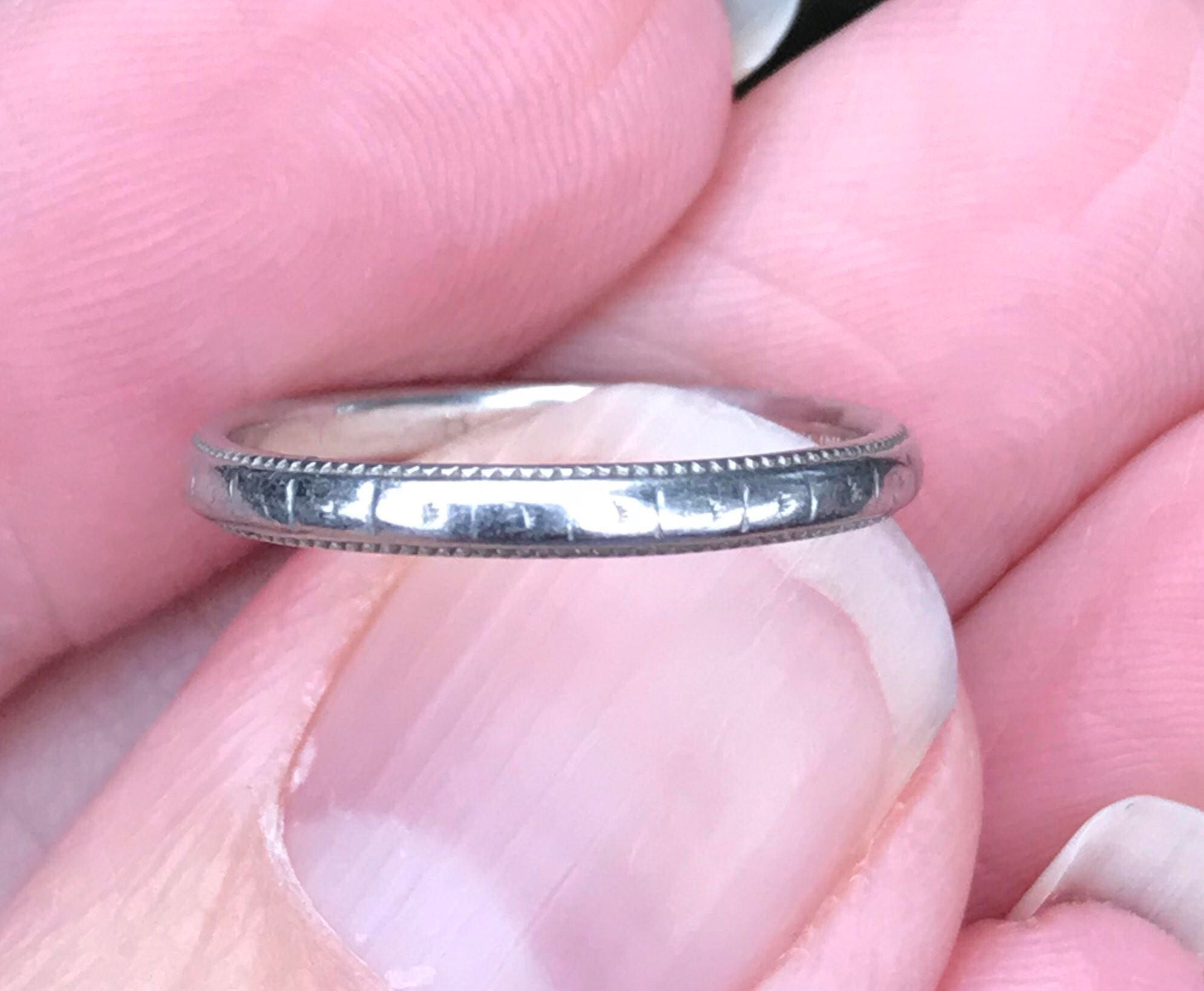 1920s Platinum eternity ring wedding ring anniversary ring
