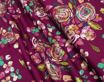 Rayon Art Gallery Swifting Flora Boho R-209-1 0.54yd (0,5m) 003585