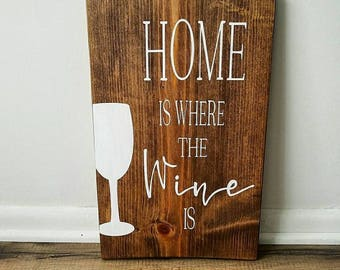 Home is where the wine is|home decor|wine