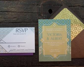 Victoria Wedding Invitation Sample