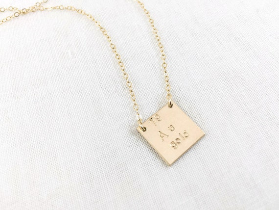 Gold element au periodic table necklace 14k gold filled urtaz Gallery