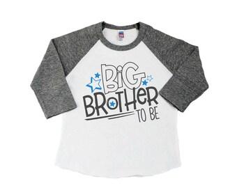 Brother Shirt - Big Brother Shirt - Pregnancy Announcement Shirt - Big Brother Announcement Shirt - Sibling Shirt  - Raglan T-Shirt