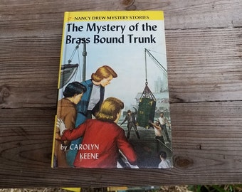 Vintage Nancy Drew, The Mystery of the Brass Bound Trunk, # 17, By Carolyn Keene, Hardcover Book, #9517, Grosset & Dunlap