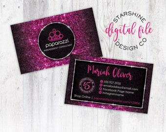 Bling business cards etsy paparazzi business card personalized business card independent consultant card custom paparazzi accessories business colourmoves