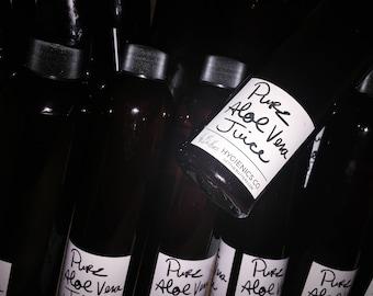 Pure Aloe Vera Juice or Gel - Organic, Sugar-free, Edible 4oz-96oz