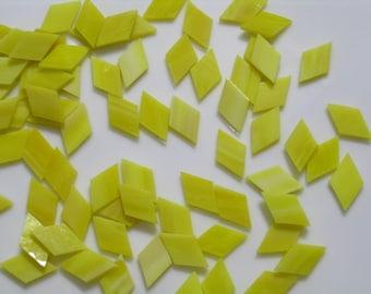 Bright Yellow Mosaic Tile