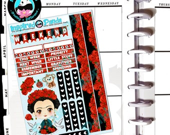 Spanish Roses - Mini Weekly Planner Sticker Kit for Planning in any planner including TN, BuJo, Recolections Classic, Happy Planner, EC