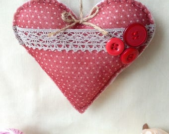 Hanging felt heart, Decoration, Gift, Home deco,