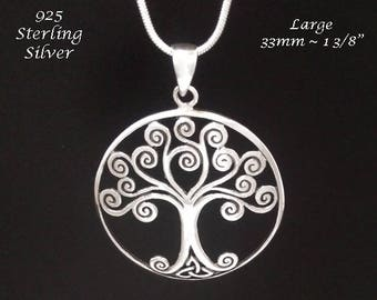 Celtic Influence Tree of Life Necklace with a 925 Sterling Silver Tree of Life Pendant - Tree of Life Jewelry, Tree of Life Necklace 119