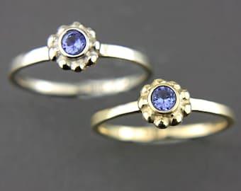 Tanzanite Gold Ring Tanzanite 14k White Yellow Pink Gold Ring Tanzanite Gold Ring Made in Your Size Tanzanite Engagement Ring