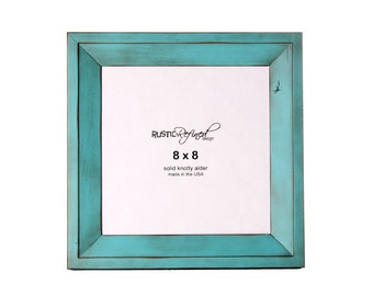 8x8 Haven picture frame - Turquoise, Free Shipping