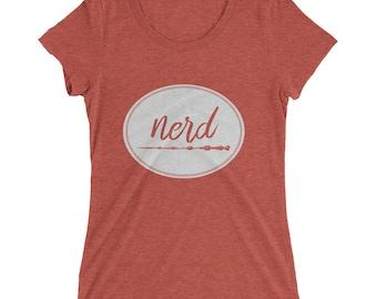 Nerd | Harry Potter Inspired Ladies' Short Sleeve T-Shirt – Wand | Wizard Inspired Tee Shirt