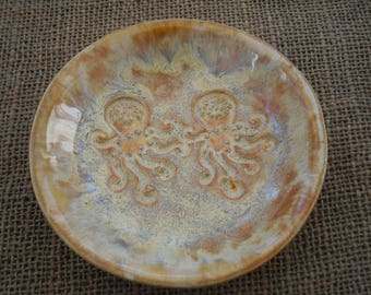 Octopus Bowl - Handmade Pottery - Octopus Pottery - Pottery Dish - Ceramic Bowl -Pottery Gift - Nautical Bowl - Octopus Dish - Beach Pottery