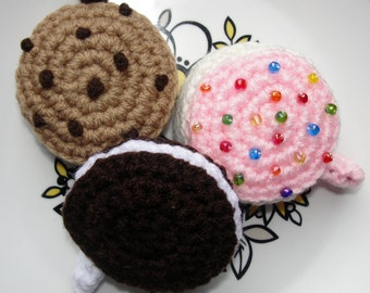 Cookie CROCHET PATTERN Tape Measure Cozies