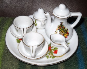 Mini Teaset Ornament, Permanent Pieces