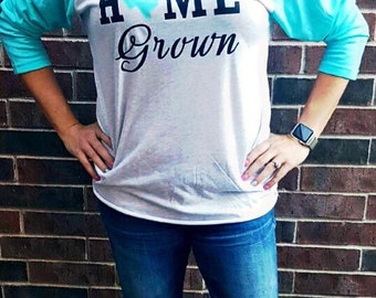 Home Grown Raglan T-shirt - State T-shirt - Texas Shirt - Women's Raglan -  Birthday Gift - Gifts for Her - Baseball Tee