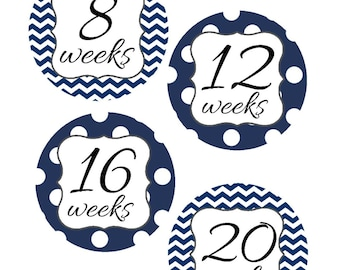 Weekly Pregnancy Stickers, Pregnancy Announcement, Pregnancy Belly Stickers, Pregnancy Photo Prop, Maternity Stickers, P23