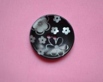 button round 23 mm fancy