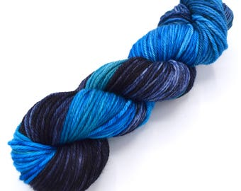Inscrutable Mystery Variegated Merino Worsted Hand Dyed Yarn - In Stock
