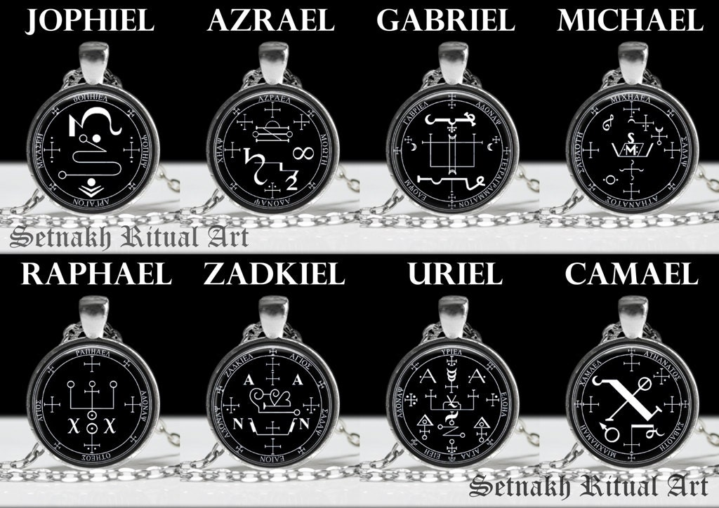 Archangel seal pendant angel necklace occult magic zoom aloadofball Choice Image