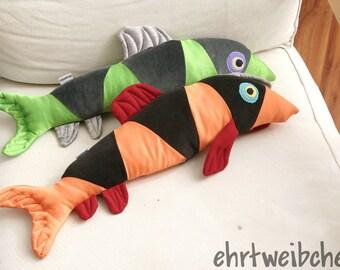 clown loach, sofa fish made of upcycling fabrics
