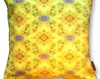 Sofa pillow yellow velvet cushion cover CANARY