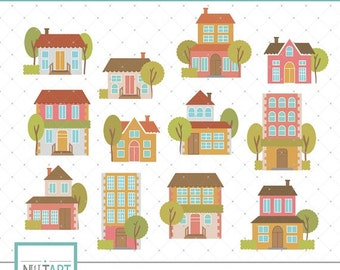 50% Off Sale CL 087, Building clip art, House clip art, Residence clip art, Home clip art