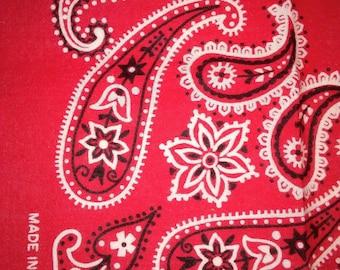 Vintage red trunk up Elephant bandana