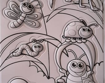 3D insects coloring stickers stickers