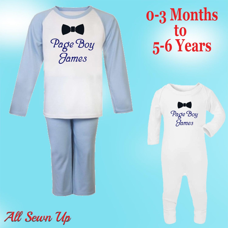 Personalised Pyjamas Embroidered. Page Boy Wedding Gift